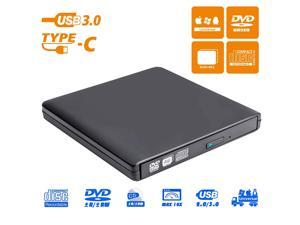 ESTONE Aluminum External DVD Drive for Laptop, USB 3.0 Portable Optical Slim CD/DVD Burner Player RW Drive Compatible with Desktop PC Windows XP/ 2003/ Vista/ 7/8, Linux, Mac os System (XD058, Black)