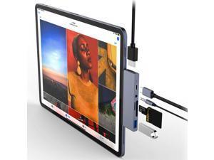 "6-in-1  iPad Pro USB C Hub, for iPad Pro 2016-2021 iPad Air 2018-2020 11""/12.9""  Docking Station with 4K HDMI, USB-C PD Charging, SD/Micro Card Reader, USB 3.0, 3.5mm Headphone Jack"