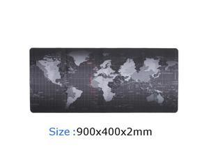 ESTONE XXXL Size 900x400x2mm World Map Speed Keyboard Mouse Pad Mat Computer Gaming Mousepad Locking Edge Table Mat- Non-slip Rubber Base for PC Computer Laptop