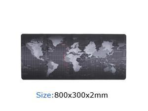 ESTONE XXL Size 800x300x2mm World Map Speed Keyboard Mouse Pad Mat Computer Gaming Mousepad Locking Edge Table Mat- Non-slip Rubber Base for PC Computer Laptop