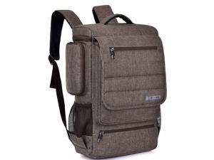 "ESTONE SH-672 Fit 15"" -17.3"" Noteboook Backpack for Up to 17.3 Inches Macbook Pro Retina Apple Macbook Mini Asus DELL HP Samsung Sony Laptop Notebook,Brown"