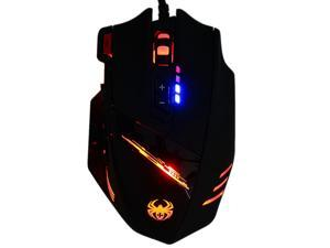 ZELOTES C-12 Wired USB Optical Gaming Mouse 7 LED Lights 12 Key Adjustable 4000DPI Computer Mouse Mice Cable Mouse for Pro Gamer