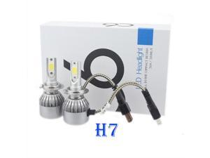 ESTONE C6 H7 Car LED Headlight Conversion Kit, 72W/Pair, 7600LM/Pair,6000K Cool White Car LED Headlight All-in-One Replacement,(Pack of 2)