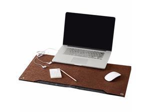 ESTONE Felt Desk Mat Multifunctional Felt Computer Desk Pad Oversized Mouse Pad for Computer Laptop Keyboard-Gray