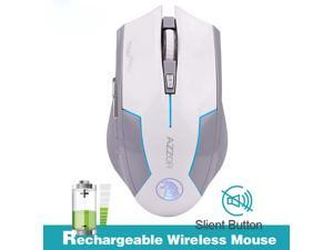 AZZOR Rechargeable Wireless Mouse Button Computer Gaming 1600DPI Built-in Battery with Charging Cable For PC Laptop