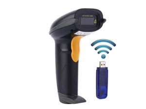 433MHz Wireless Barcode Scanner USB Bar Code Reader 328 Feet Long Transmission Distance Handheld Rechargeable Cordless Network Automatic 1D Bar-code UPC Scanning for Mac OS Windows Quickbooks Linux