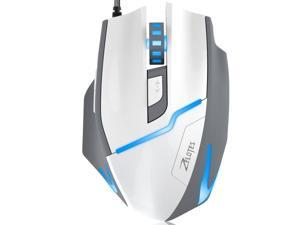 Zelotes 7200 DPI High Precision FPS Gaming Mouse,Ergonomic USB Wired Mice Optical Computer Mouse for Gamer PC Mac Laptop Desktop-White