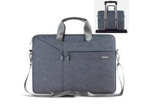 15.6 inch Laptop Sleeve Waterproof Notebook Protector Carrying Tablet Case for MacBook  / MacBook Pro Retina  / Ultrabooks 15.6 inch Laptop Bag Cover (15-15.6 inch, Gray)