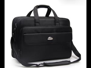 17 inch Laptop Bag, Business Travel Bag, Expandable Large Hybrid ESTONE Shoulder Bag, Water Resisatant Business Messenger Briefcases for Men Fits 17.3 Inch Laptop, Computer, Tablet-Black