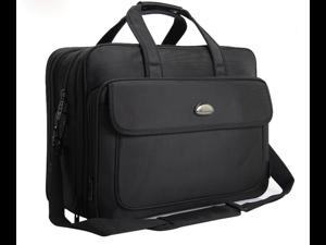 "ESTONE 17 Inch Laptop Bag, Expandable Multi-functional Business Briefcase for Men Women, Water Resitant Shoulder Computer Messenger Bag,Carry On Handle Travel Case for 17"" 15.6"" Asus Acer Macbook"