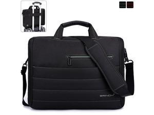 BRINCH Large Capacity Laptop Bag ,15.6 inch Durable Organizer Business Travel laptop messenger Bag,Water Resisatant Briefcase Computer Office Shoulder big laptop case bag For Men Women, Black+Green