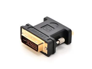 ESTONE DVI VGA Adapter DVI-I 24+5 Male to VGA HD15 Female Adapter Gold Plated for Gaming, DVD, Laptop, HDTV and Projector Gold Plated Supports 1080P Full HD for Computer, PC Host, Laptop, LG HP Dell