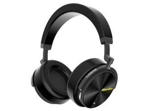 Bluedio T5 Active Noise Cancelling Wireless Bluetooth Headphones Portable Headse(Black)