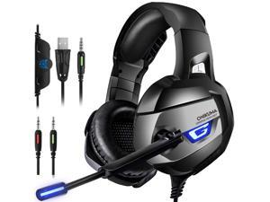 ESTONE PC Gaming Headset, 7.1 Surround Stereo Sound USB Computer Gaming Headset with Microphone,Over-The-Ear Noise Isolating,Breathing LED Light Compatible Mac, Laptop,PC Gamers