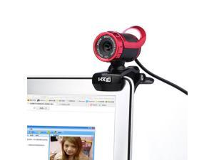 HXSJ A859 PC Webcam 480P PC Web Camera USB 2.0 - PerryLee Video Record HD Webcam With Built-in 10M Microphone MIC For Computer PC Laptop Skype MSN Auto Focus 360 Degrees Rotation Plug-and-Play- Red