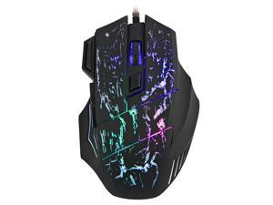 HXSJ Crack Glows Wired Gaming Mouse 7 Button 5500 DPI LED Optical USB Computer Mouse Gamer Mice X7 Game Mouse Silent Mause For PC