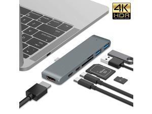 ESTONE USB Hub USB C to HDMI Adapter for Samsung S8/S9/Note8/Note9 Dex Mode Thunderbolt 3 Adapter for Macbook Pro/Air 2016 2017 Support HDMI4K*2K60HZ 4K*2K30HZ 1080P60HZ 1080P30HZ 720P-Gary