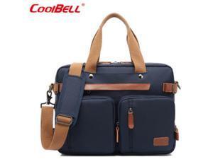 "ESTONE CB-10001 Nylon Convertible Backpack Laptop Bag, 17.3"" , Blue"