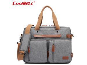 "ESTONE CB-10001 Nylon Convertible Backpack Laptop Bag, 17.3"" , Gray"