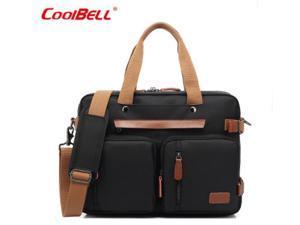 """ESTONE CB-10001 Nylon Convertible Backpack Laptop Bag, 17.3"""" , Black"""