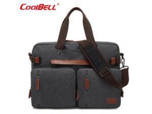"ESTONE CB-10001 Convertible Backpack Laptop Bag, 17.3"" , Canvas Gray"