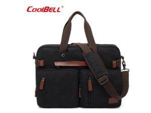 "ESTONE CB-10001 Convertible Backpack Laptop Bag, 17.3"" , Canvas Black"