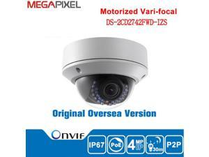 Hikvision 4MP WDR Vari-focal Dome Network Camera DS-2CD2742FWD-IZS 2.8 - 12 mm motorized lens HD 1080P POE Day & Night Outdoor CCTV IP Camera English Version