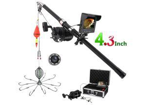4.3 Inch Color Monitor Underwater Fishing Video Camera Kit 8 Pcs IR LED Lights with Explosion fishing hooks