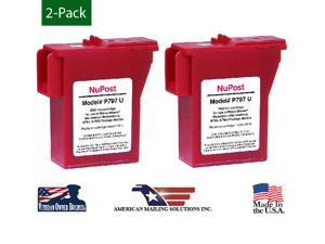 (2-Pack) NuPost Brand K-700, 797-0, 797-Q, 797-M, Pitney Bowes Compatible Red Ink Cartridge Replacement for Pitney Bowes Postage Meter Mailstation/Mailstation2 K700, K7MO