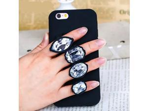 Luxury Case For iPhone 5s 6 Plus 6s Plus 3D Diamond Glitter Phone Case For iPhone X 8 7 7Plus Soft Silicon Ring Holder Bag Cover