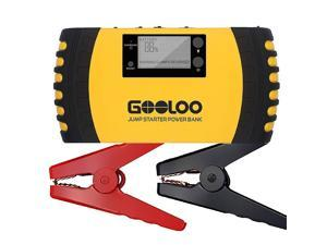 GOOLOO 1000A Peak 20800mAh Portable Car Jump Starter (Up to 8.0L Gas, 6.0L Diesel Engine) 12V Auto Battery Booster Phone Charger Power Pack Built-in LED Light and Smart Protection