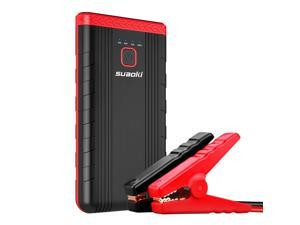 Suaoki U3 400A Peak Jump Starter Lithium ion Phone Charger and Battery Booster Power Pack for Automotive Truck Motorcycle Boat