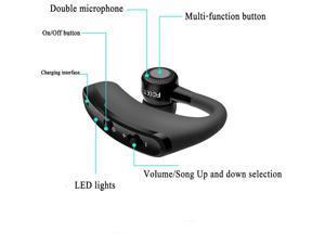 V9 Bluetooth Earphone Wireless Voice Control Music Sports Handsfree Bluetooth Headset Headphones Noise Cancelling Headset