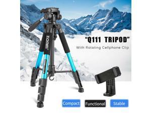 Q111 Aluminum Tripod Pan Head Stand For Cellphone Mount Nikon Canon Camera