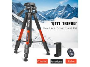 Professional  Q111 Compact Pro Tripod For Cellphone Anchor Live Broadcast