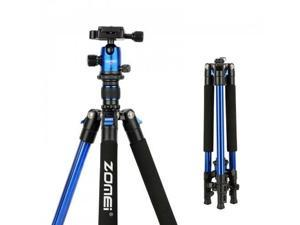 Q555 Travel Tripod Compact Lightweight Alluminum For DSLR and Camcorders