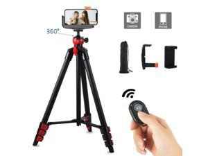 """52"""" Professional Portable Tripod Stand + Holder Mount For Cellphone Ring Light"""