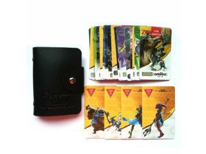 22PCS ZELDA AMIIBO NFC TAG Cards with 4 Champion Card BOTW SSB Wolf Link 20 Hearts Fierce Deity for NS Switch WII U, with Leather Holder Case