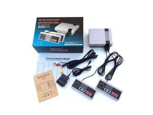 Mini NES TV Video Game Anniversary Edition Console Built-in 620 Class Games+Double Gamepads