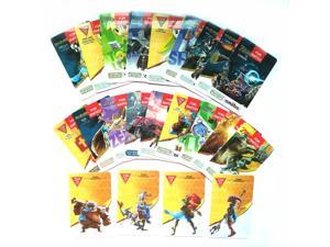 22Pcs ZELDA BOTW AMIIBO NFC PVC Tag Cards with 20 Hearts Wolf Link Majora's Mask 4 Champion Card for NS Switch WII U New 3DS