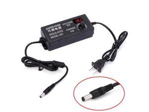 Adjustable AC to DC Output 9V-24V 3A Universal Regulated Power Supply Adapter with Voltage Display Screen