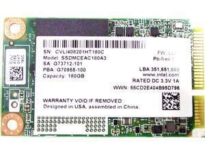 Intel mSATA 180GB SATA 6Gb/s MLC SSDMCEAC180A301
