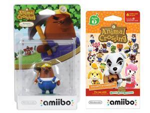 Mr Resetti Amiibo (Animal Crossing Series 2) for Nintendo Switch - WiiU, 3DS Bonus 1-Pack (6 Cards/Pack) (Bundle)