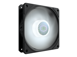 Cooler Master SickleFlow 120 V2 White Led Square Frame Fan with Air Balance Curve Blade Design, Sealed Bearing, PWM Control for Computer Case & Liquid Radiator