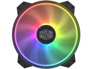 """Cooler Master MasterFan MF200R ARGB - 200mm Addressable RGB (+5v, 3-pin) High AirFlow Case Fan with Screw Holes 7"""" x 5"""" or 6"""" x 6"""" (Not Fit HAF Series Chassis)"""