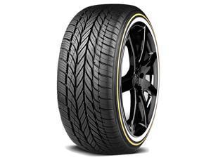 2 Vogue Custom Built Radial VIII 245/45R18 100V XL White/Gold Sidewall Tires