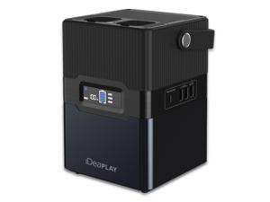 iDeaPLAY BP300 Portable Power Station Generator 67500mAh 250Wh, Emergency Backup Lithium Power Supply, 115V/300W AC Outlets, DC Outputs, USB QC3.0, PD, Flashlight, for CPAP Home Travel Camping Outdoor