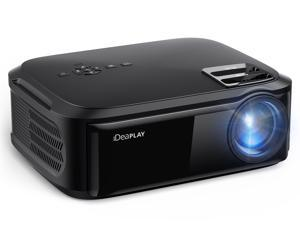 iDeaPLAY PJ80 1080p Full HD Projector, 1920x1080 FHD Native Resolution Home Theater Projector,  Input Singal Supports 720p, 1080i, 1080p Resolution, with VGA USB HDMI ports