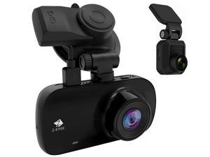 Z-EDGE Z3D 1080P Full HD Dual Lens Dash Cam, Front and Rear (2560x1440P Single Front), with GPS, Support 256GB TF Card, 150° Wide View Angle, WDR, Super Night Vision, Parking Mode, G-Sensor
