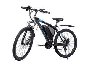 """IDEAPLAY Electric Bike 26""""- 250W Mountain Bike With Removable 36V- 8A Lithium Battery - 20 mph Adult Electric Bicycles With 18 Speed For Men and Women"""